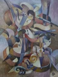 Virtuóz hegedűjáték 2 (50x70
