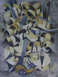 Virtuóz hegedűjáték 1 (50x70)