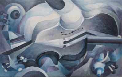 Kék hegedűs 1
