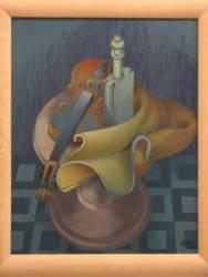 Alvó hegedű trafériával