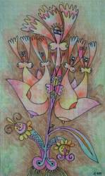A vadász  lánya (20x15  színes ceruza papír)