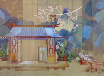 Pillangó kisasszony-Pucini (42x59,4 papír vízfesték)
