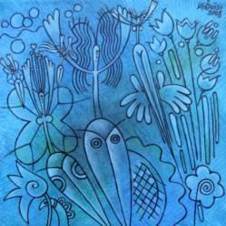 Kék tündérek (40x40 olaj)