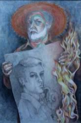 Önarckep (én voltam) (50x70 papír aqvarell)