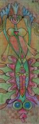 Parasztmadonna színesceruza