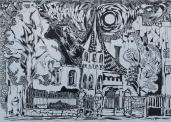 Templom grafika