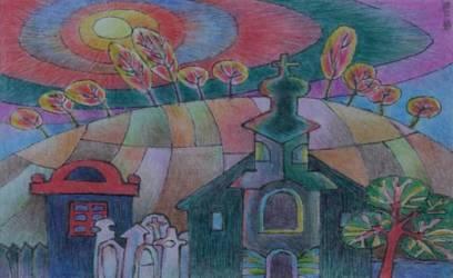 Templom színes